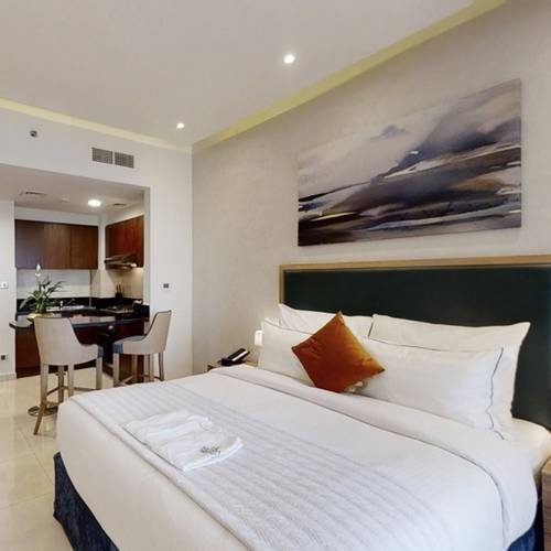 Creek view studio apartment suha creek hotel apartments, waterfront,al jaddaf dubai