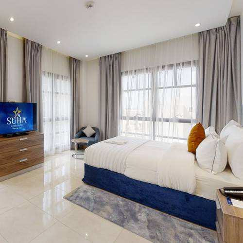 One bedroom city view apartment suha creek hotel apartments, waterfront,al jaddaf dubai
