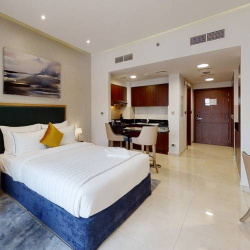 Standard studio apartment suha creek hotel apartments, waterfront,al jaddaf dubai