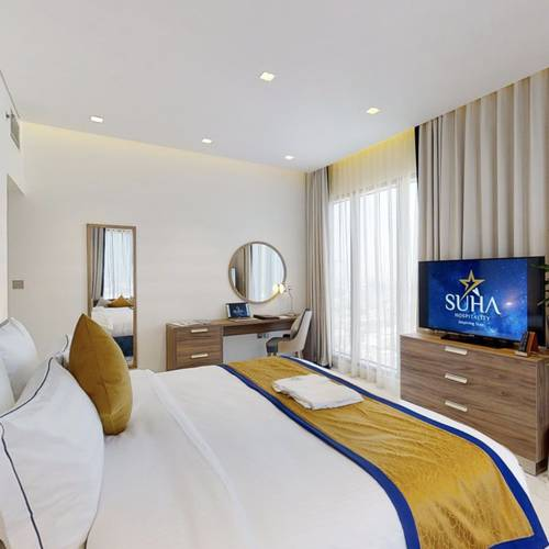 2 bedroom deluxe apartment (king + queen bed) suha mina rashid hotel apartments, bur dubai