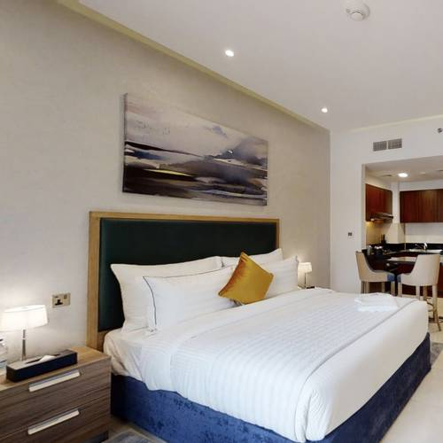 Studio deluxe apartment suha creek hotel apartments, waterfront,al jaddaf dubai