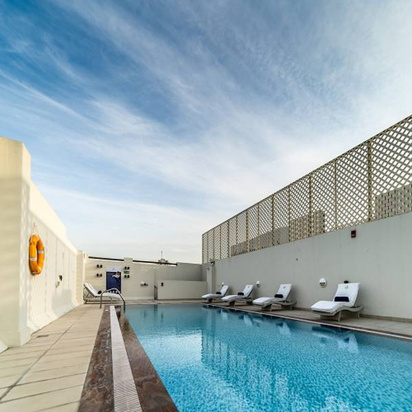 Swimming pool suha creek hotel apartments, waterfront,al jaddaf dubai