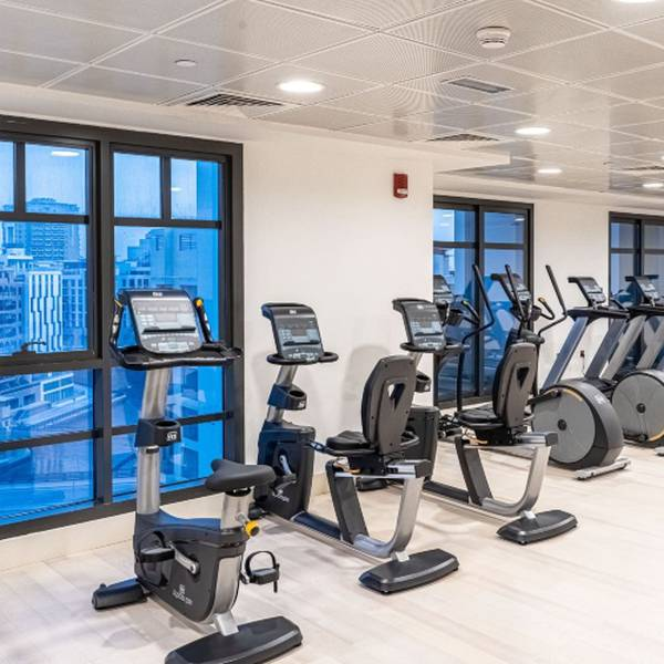 Gym suha creek hotel apartments, waterfront,al jaddaf dubai